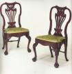 Pair of mahogany side chairs ex-Art Institute of Chicago