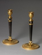 4563-Pair French Candlesticks