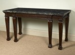 Unusual Carved Mahogany Side Table