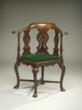Chinese export corner armchair
