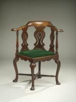 Chinese Export Padouk Corner Chair