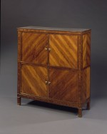 Rare cabinet of double tambour-enclosed sections