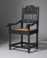 Rare Ebony armchair from  Longleat House