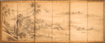 Japanese six-fold screen
